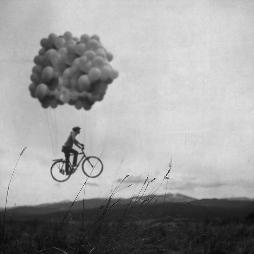 balloons bicycle