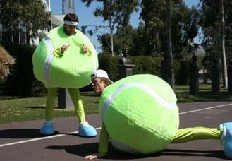giant tennis balls