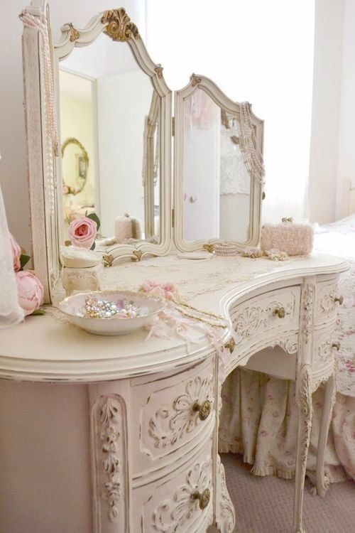 Master bathroom; Looking for an antique dressing like this to go in the northwest space of the master bathroom.
