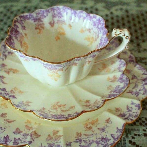 Delicate tea setting