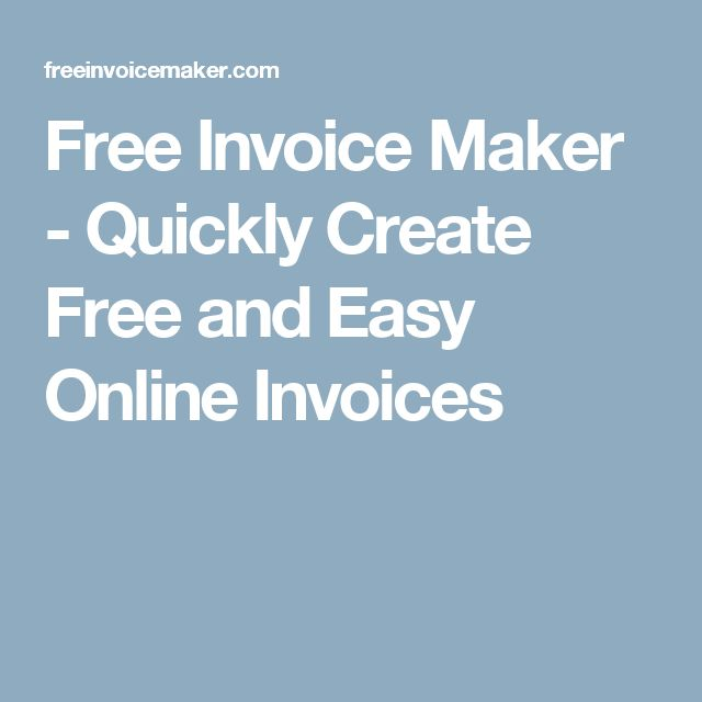 Best 25+ Invoice maker ideas on Pinterest Free background - create invoice online free