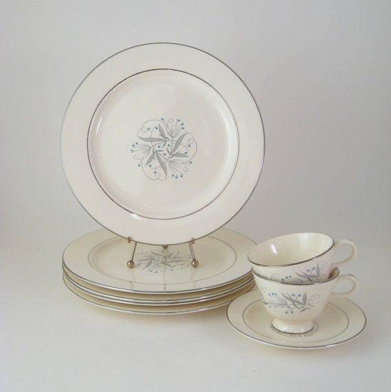1950s Dishes: Vintage Dinnerware Set, Homer Laughlin Celeste, Mid