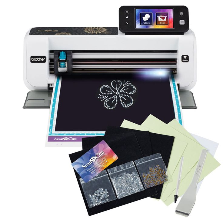 ScanNCut2 Home and Hobby Cutting Machine with Rhinestone Trial Kit