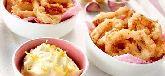 Delhaize recept: Gefrituurde calamaris met lookmayonaise