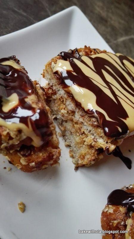 Bake with Ola : Tosty francuskie z masłem orzechowym i czekoladą