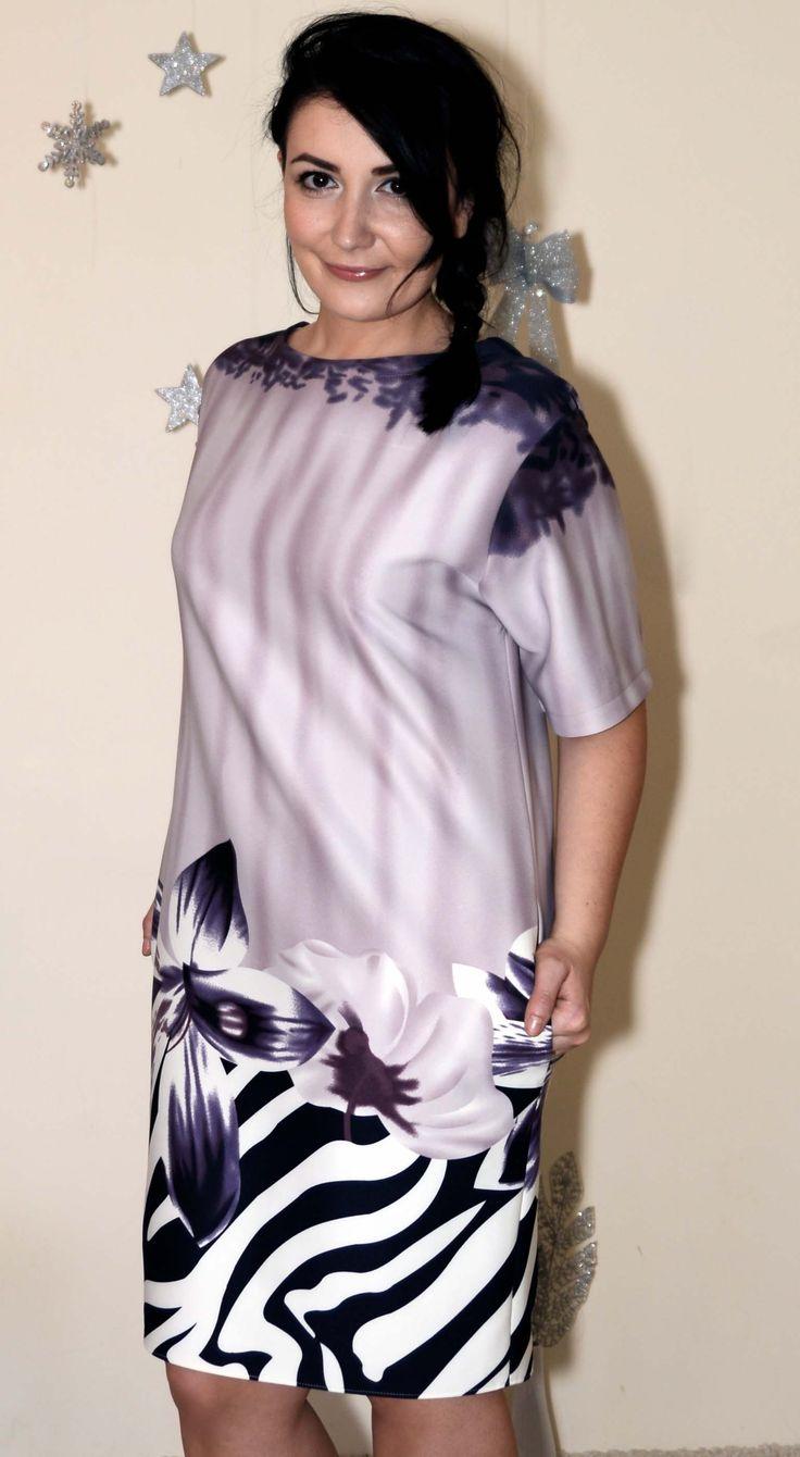 Rochie de zi din jerse