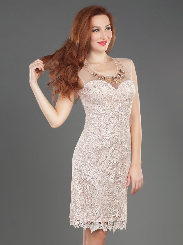 Short Lace Dress with Beading