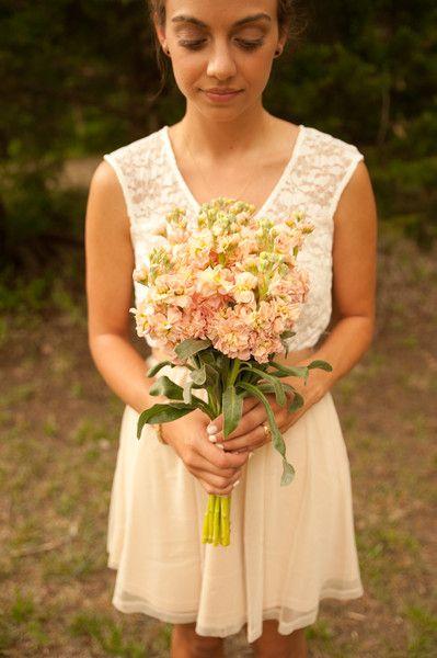 Apricot stock bridesmaid bouquets - vintage-inspired stock bridesmaid bouquets {MaggShots Photography}