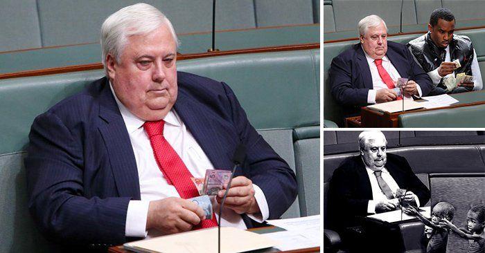 Tras la publicación de una fotografía del político Clive Palmer contando dinero en el Parlamento, reddit respondió con una divertida batalla de photoshop.