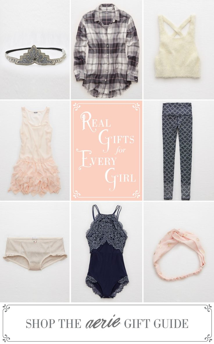 Extra sparkle, extra lace, extra luxe. Shop our holiday gift at Aerie.com/giftguide
