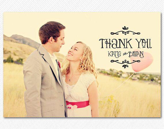 Carte de mariage Merci ou Magnet  Sunnyside par cardcandydotcom