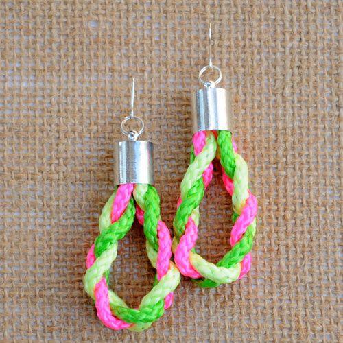 Frolic Fluro Twisted Rope Earring