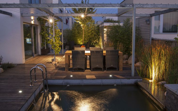 osvětlení malé soukromé zahrady / lighting small private garden