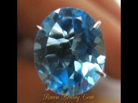 Batu Permata Natural Topaz Oval Cut Swiss Blue 2.73 Carat