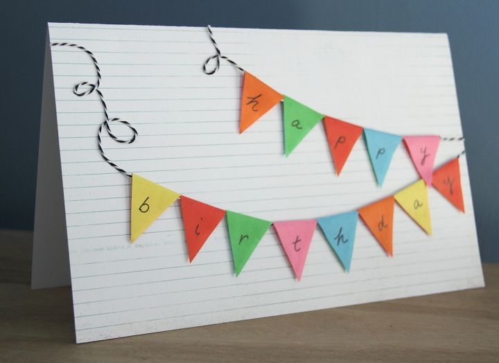 Bunting Happy BirthdayCard - Blog - homeandawaywithlisa