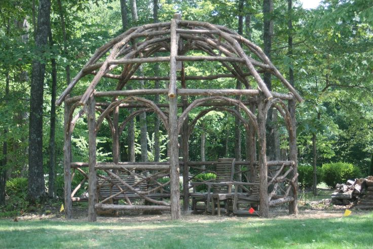Rustic Pergola Custom Made Rustic Dome Roof Cedar