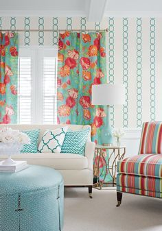 Coral Living Rooms Coral And Turquoise Living Rooms On Pinterest