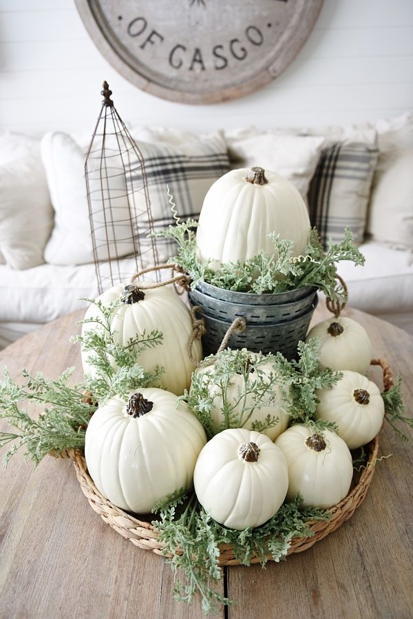 Such matters beautiful Fall centerpiece!
