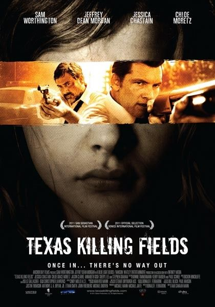 Texas Killing Fields starring Jeffrey Dean Morgan, Jessica Chastain, Sam Worthington, and Chloe Grace Moretz