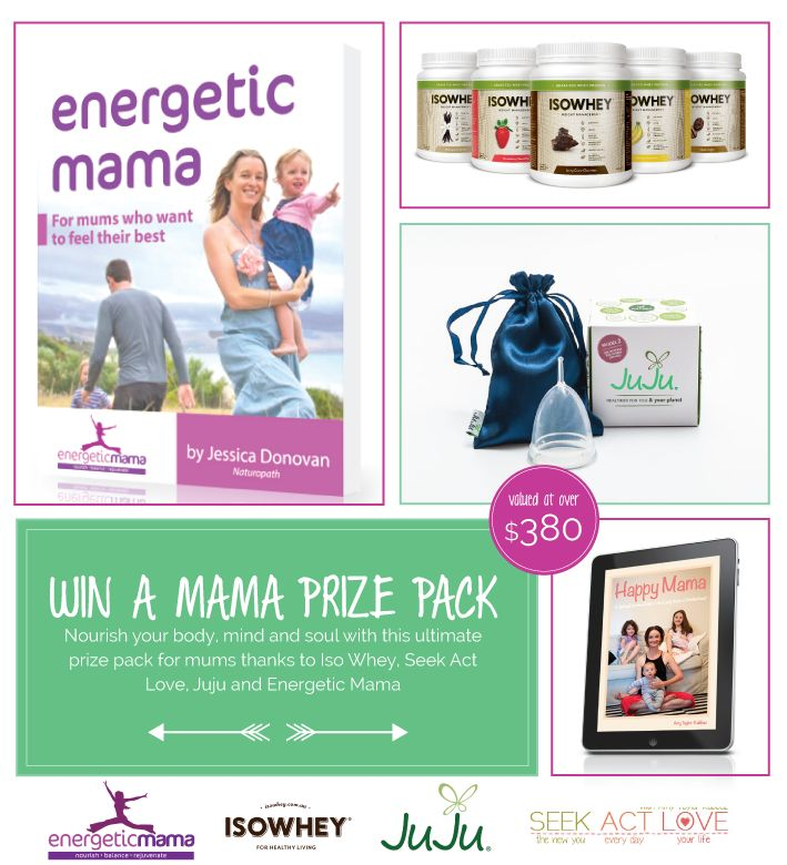WIN A MAMA PRIZE PACK THANKS TO ENERGETIC MAMA, ISO WHEY, JUJU AND SEEK. ACT. LOVE. https://gleam.io/qB4jn/win-a-mama-pamper-pack-valued-at-over-380