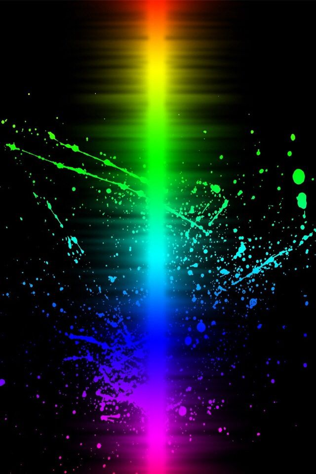 Rainbow colors Light Refracting on black background - - iphone wallpaper  background cell phone