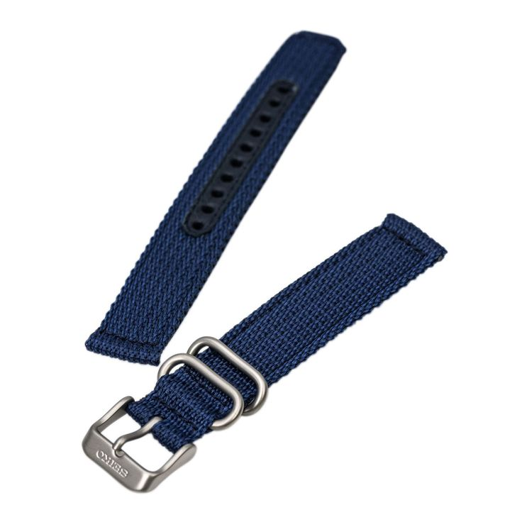 Seiko Unisex's 16 mm Wide Blue Nylon Band for Seiko SNK809, SNK805, SNK807, and SNK813