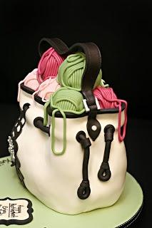 Jessicakes: Amy Butler Inspired Knitting Bag Cake