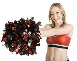You can make handmade pom-poms for your cheerleading squad.