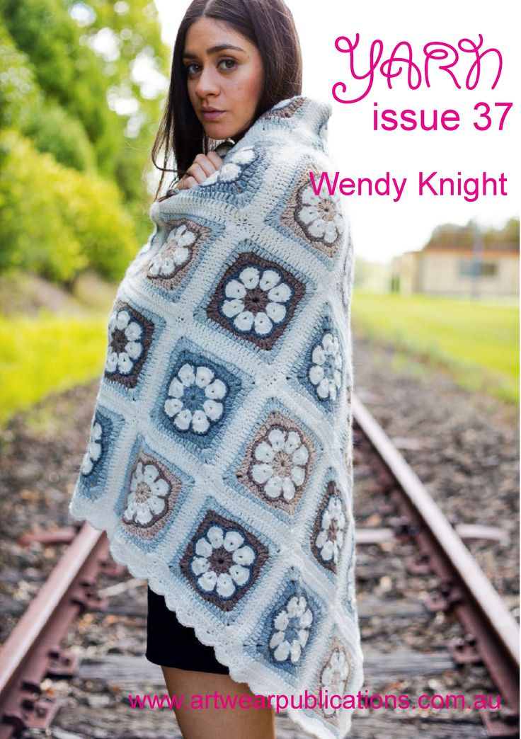 A lovely crocheted floral blanket from Wendy Knight. Yarn used: Cleckheaton Perfect Day 8 ply, 70% merino wool, 30% alpaca (50g/1.75oz, 94m/103yds, 11wpi, CYCA #3, DK weight). Full instructions in Yarn issue 37 http://artwearpublications.com.au/back-issues/back-issue-yarn-97.html #crochet #pattern