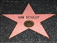 Vin Scully, voice of the LA Dodgers for over 60 years.