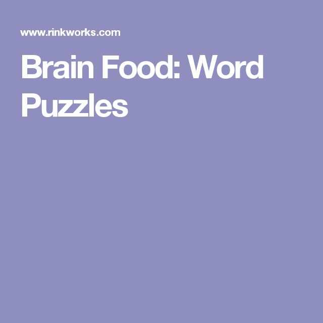 Brain Food: Word Puzzles