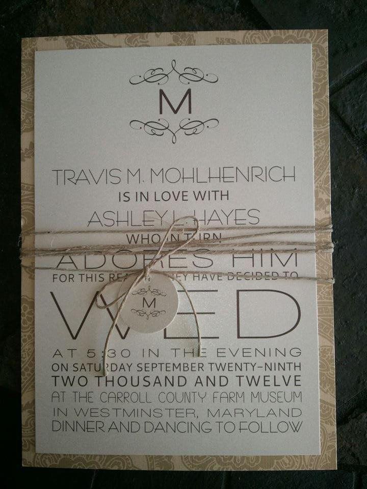 115 best Wedding Invitation Templates images on Pinterest