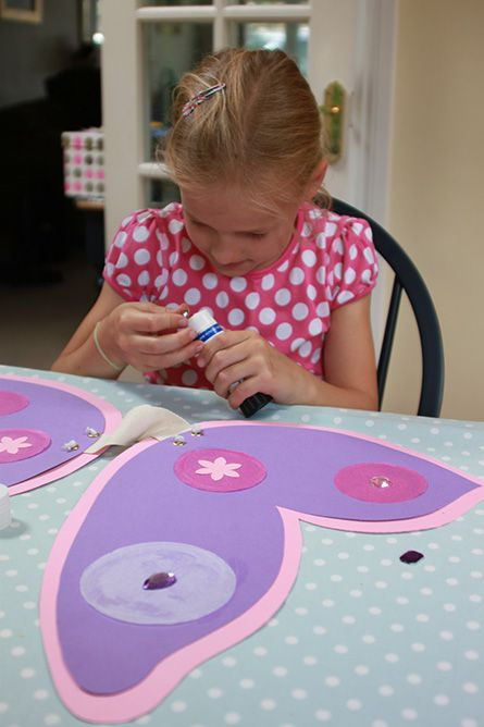 decorate your own fairy wings craft - make wings with elastic, poster board, and decorative things - rhinestones!!!