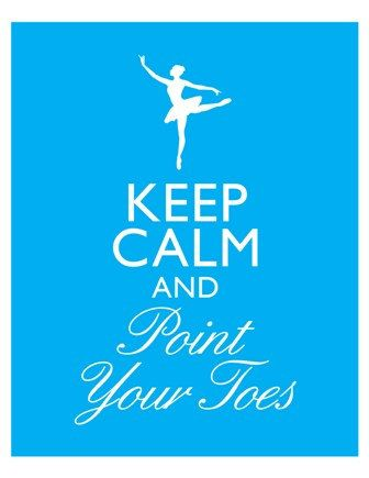 Keep Calm and Point Your Toes Ballet Ballerina Dance Art Print 8x10 inch or A4 Poster Sign Buy 3 Get 1 P127. $10,00, via Etsy.