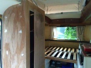 kast bouwen caravan