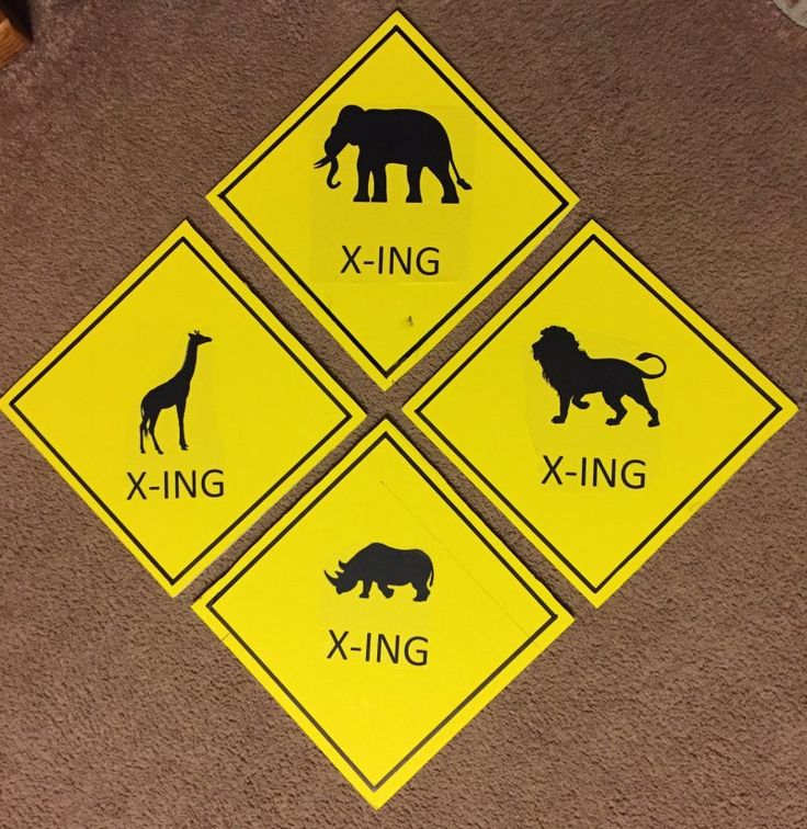 Diy animal crossing signs safari or zoo party decor zoo