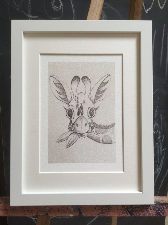 •This Nikiink original sketch giraffe print will look beautiful in any modern nursery.  •Images are printed using high quality inks on 300 gsm Hahnemuhle German etching paper, which looks and feels like canvas. •Please be aware that frames are not currently available in the purchase price. We have used Ikeas Ribba range which is a perfect fit for a 12x17cm or 20x30cm image size.  •Images are printed with large page margins to assist with mounting. It is advised that a white margin is visible…