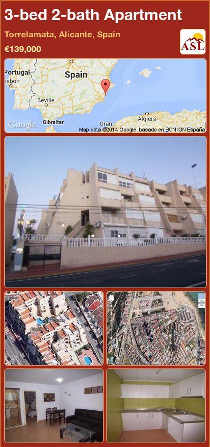 3-bed 2-bath Apartment in Torrelamata, Alicante, Spain ►€139,000 #PropertyForSaleInSpain