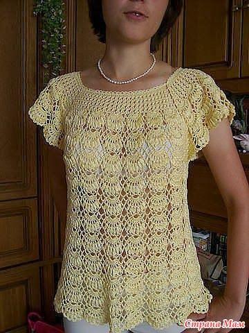 Manualidades y Reciclado: Blusas crochet con esquemas