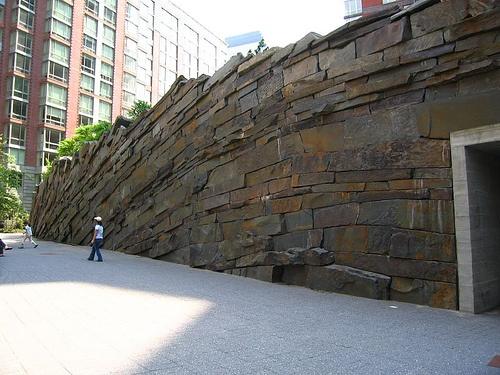Stone Wall - Tear Drop Park - Michael Van Valkenburg