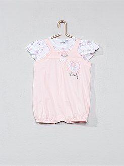62d13963cc2 Niña 0-36 meses - Conjunto de peto + camiseta  Minnie  - Kiabi ...