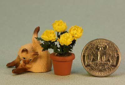 Make a Dolls House Chrysanthemum  - A 1:12 Scale Miniature Chrysanthemum Plant
