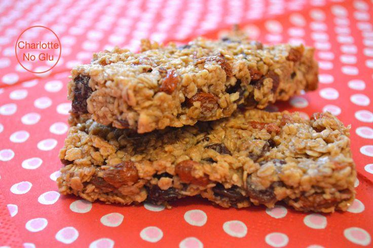 Barres de céréales avoine, baies de goji et raisins secs – Goji berries and dried currants flapjacks | Charlotte No Glu