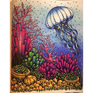 Inspirational Coloring Pages by Ida Johansson @edaavictoria #inspiração #coloringbooks #livrosdecolorir #jardimsecreto #secretgarden #florestaencantada #enchantedforest #reinoanimal #animalkingdom #adultcoloring #milliemarotta #lostocean #oceanoperdido