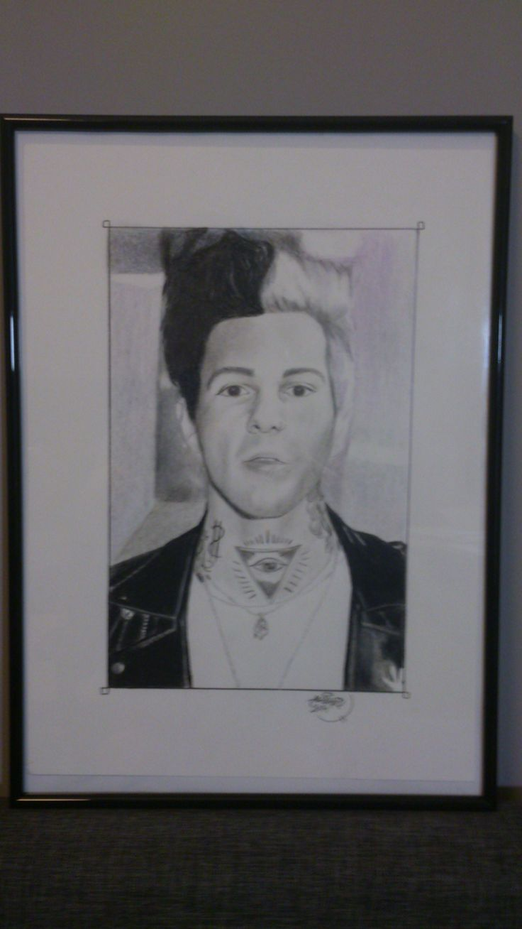 -Jesse Rutherford -Colored pencils on cardboard -Measures: 30x42 cm  SOLD Can be made similar after request