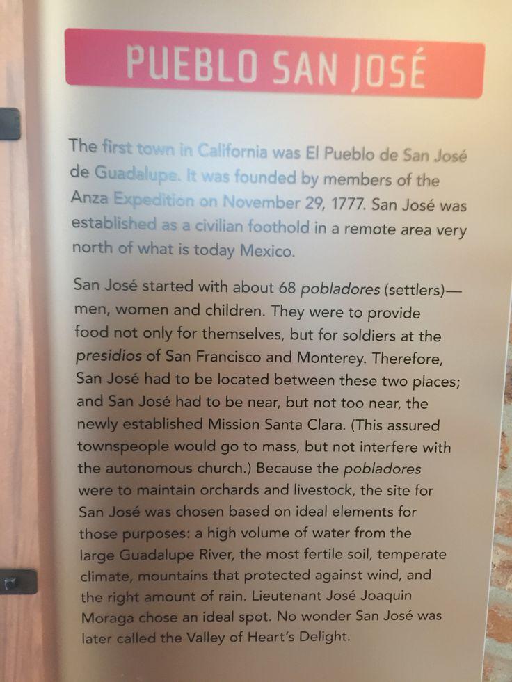 San Jose Monterey Map%0A san Jose Pueblo information posted at the Roberto  Sunol museum in WIllow  Glen San
