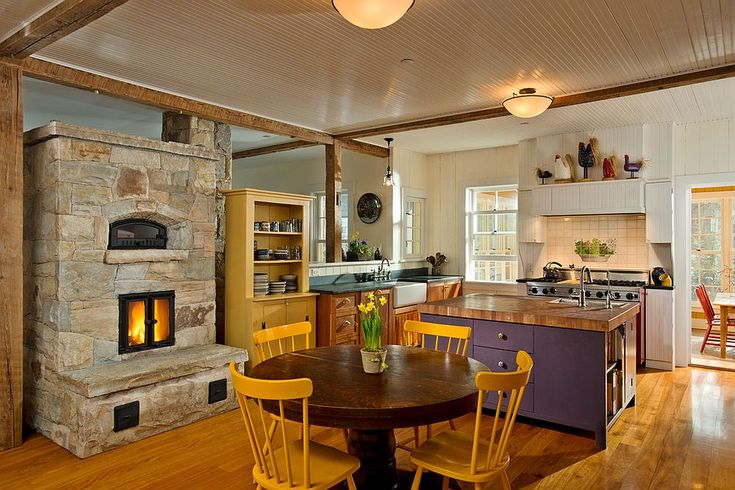 Kitchen Makeover with Remodeling Fireplace Ideas - http://evafurniture.com/kitchen-makeover-with-remodeling-fireplace-ideas/