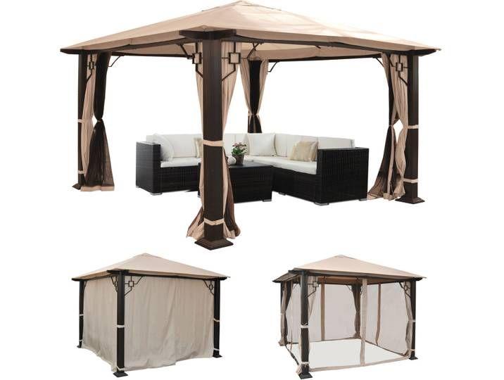 Pergola Mira Garten Pavillon 12cm Luxus Alu Gestell Mit