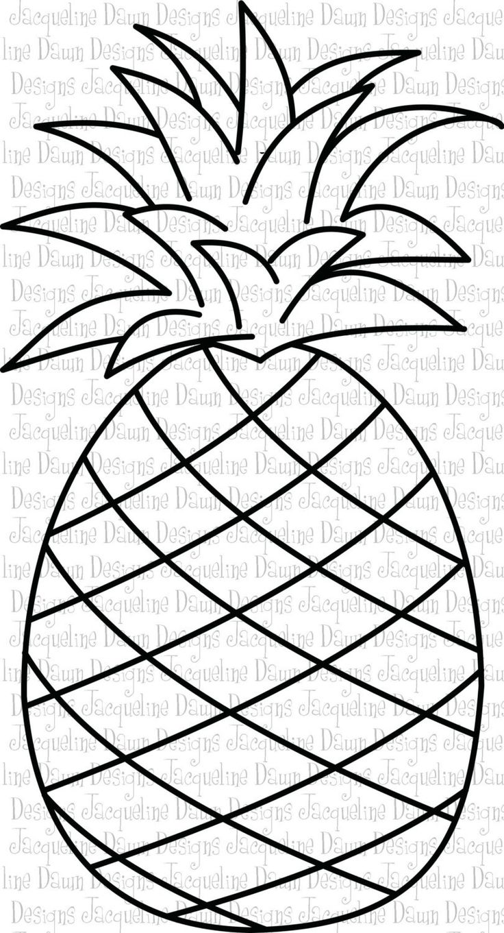 pineapple clipart black and white - Google Search