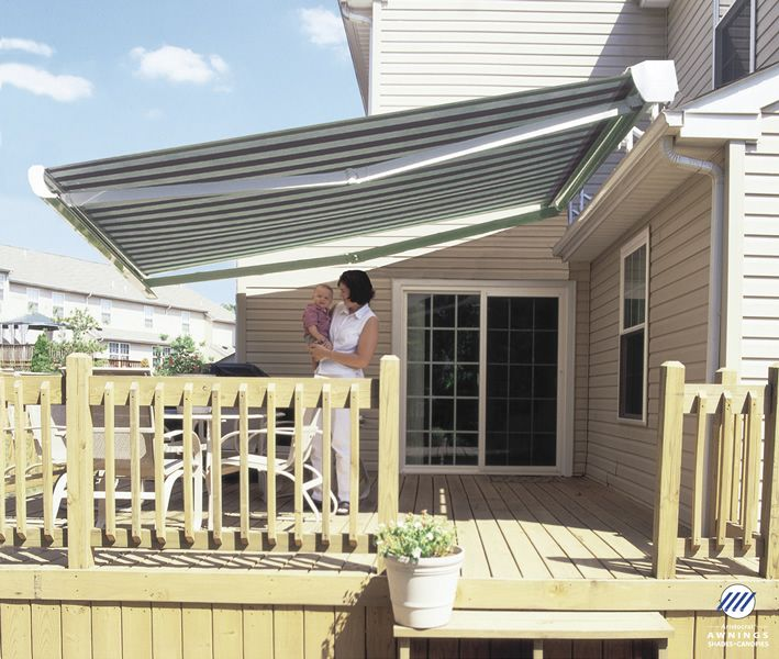Retractable Manor Awning With Full Cassette To Complete Enclose Fabric And  Hardware When Not In Use